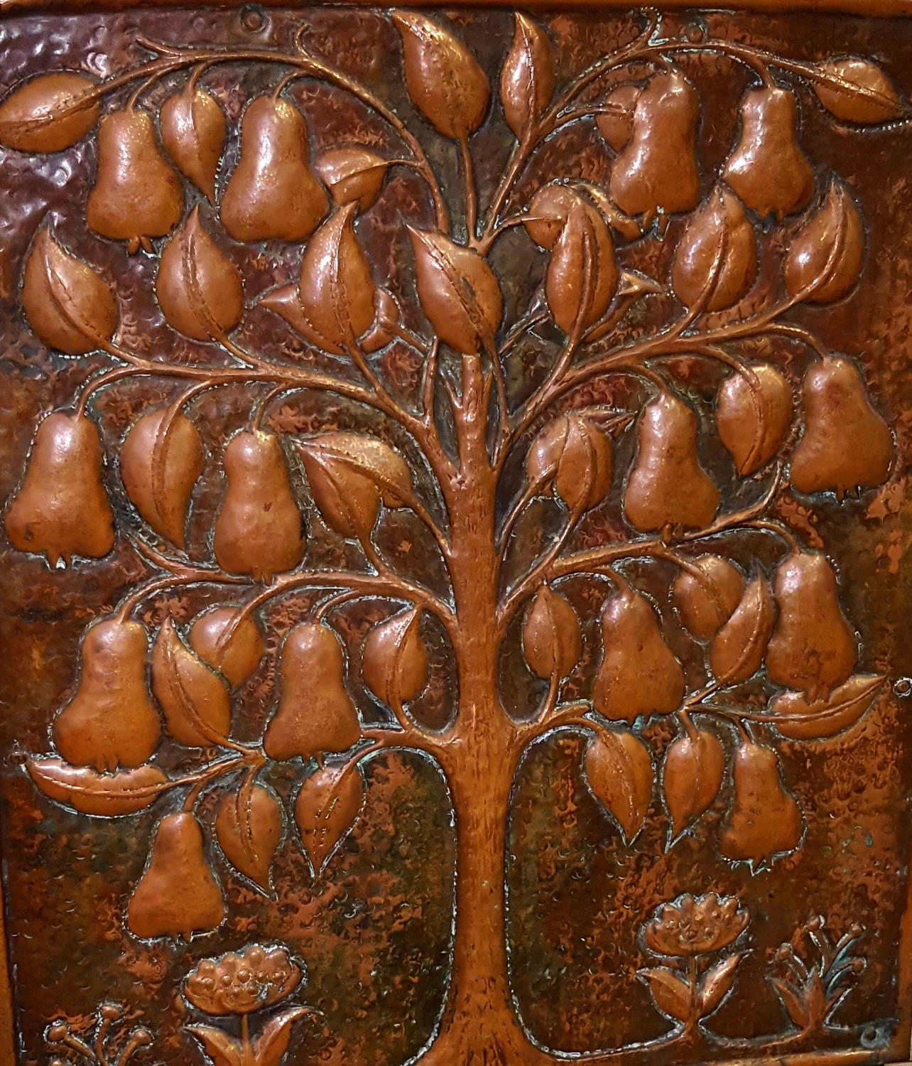 JOHN PEARSON ARTS AND CRAFTS TREE OF LIFE FIRESCREEN