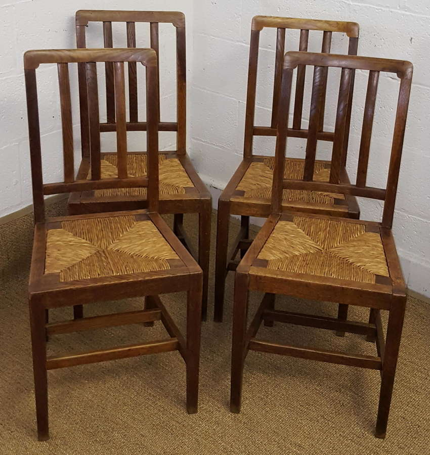 HEALS SET OF 4 OAK DINING CHAIRS