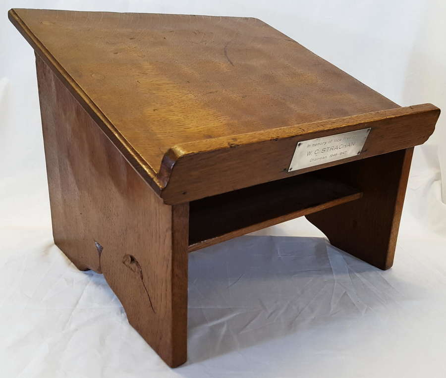 ROBERT MOUSEMAN THOMPSON  OAK BOOK STAND C1940