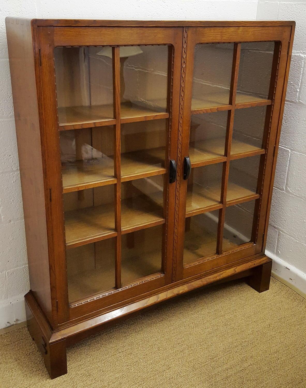 Stanley Webb Davies Cotswold School Oak Bookcase C1929 In