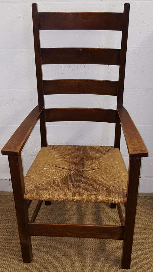 HEALS LETCHWORTH OAK ARMCHAIR C1905