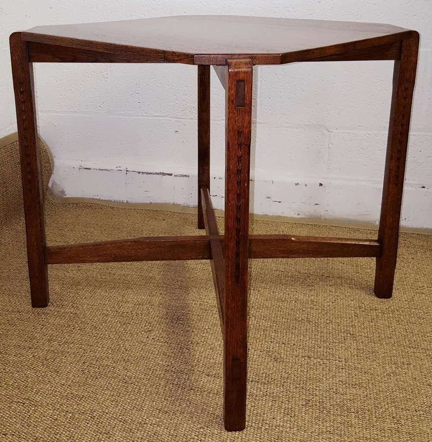 COTSWOLD SCHOOL OAK TABLE MANNER OF GORDON RUSSELL C1930