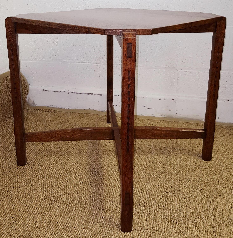 COTSWOLD SCHOOL OAK TABLE MANNER OF GORDON RUSSELL C1930