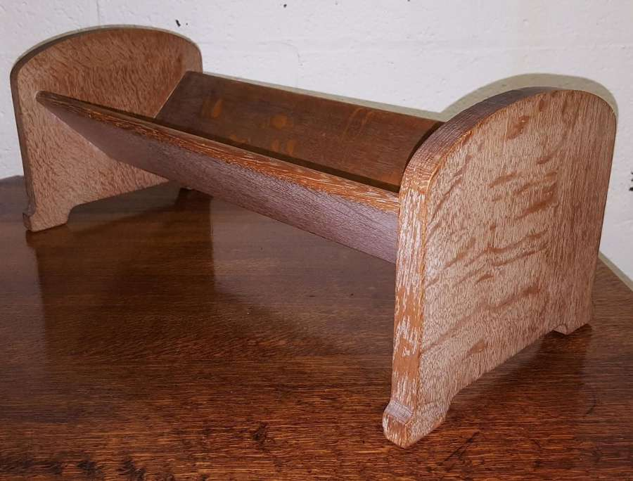 HEALS LIMED OAK BOOKCASE BOOK TROUGH C1920