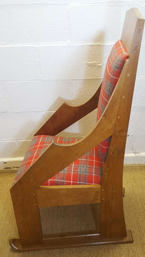 COTSWOLD SCHOOL OAK SKI CHAIR C1950